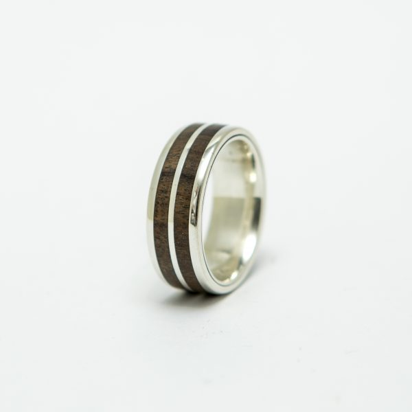 Wooden-ring-silver
